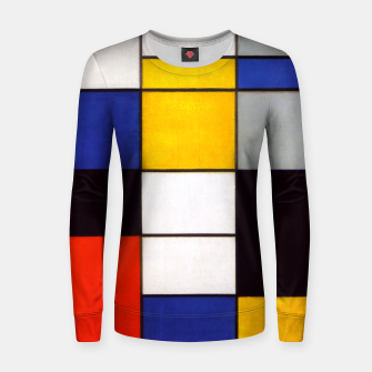 Thumbnail image of Composition A by Piet Mondrian Women sweater, Live Heroes