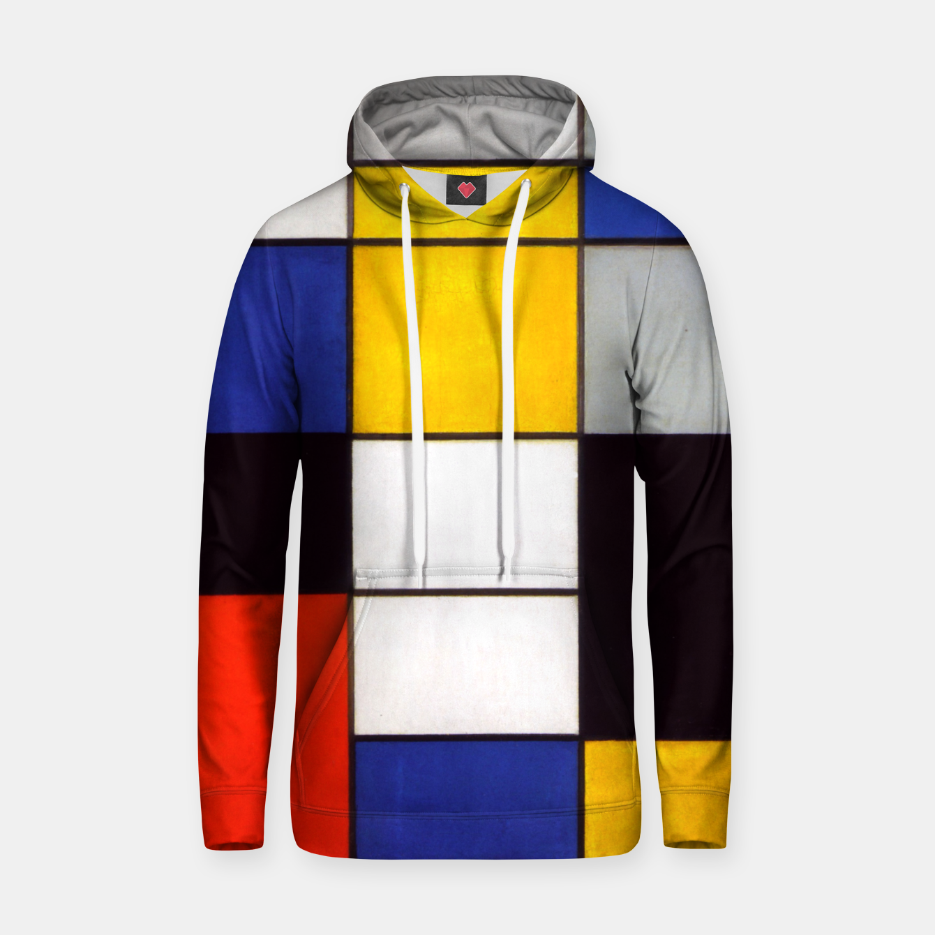 Image of Composition A by Piet Mondrian Hoodie - Live Heroes