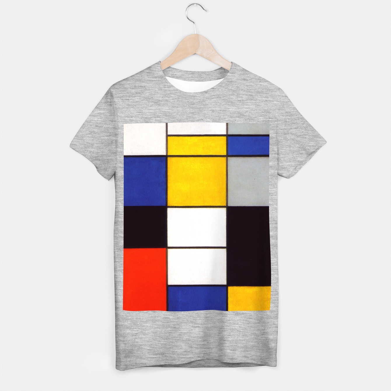 Image of Composition A by Piet Mondrian T-shirt regular - Live Heroes