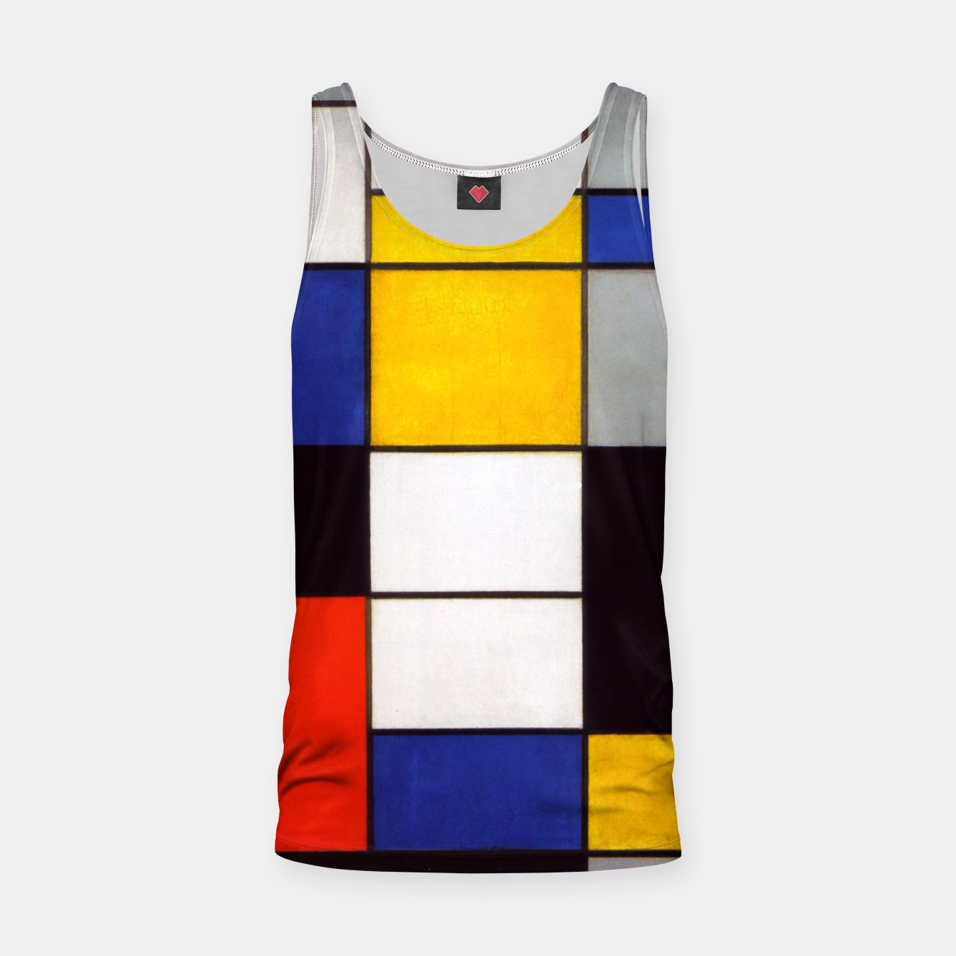 Image of Composition A by Piet Mondrian Tank Top - Live Heroes