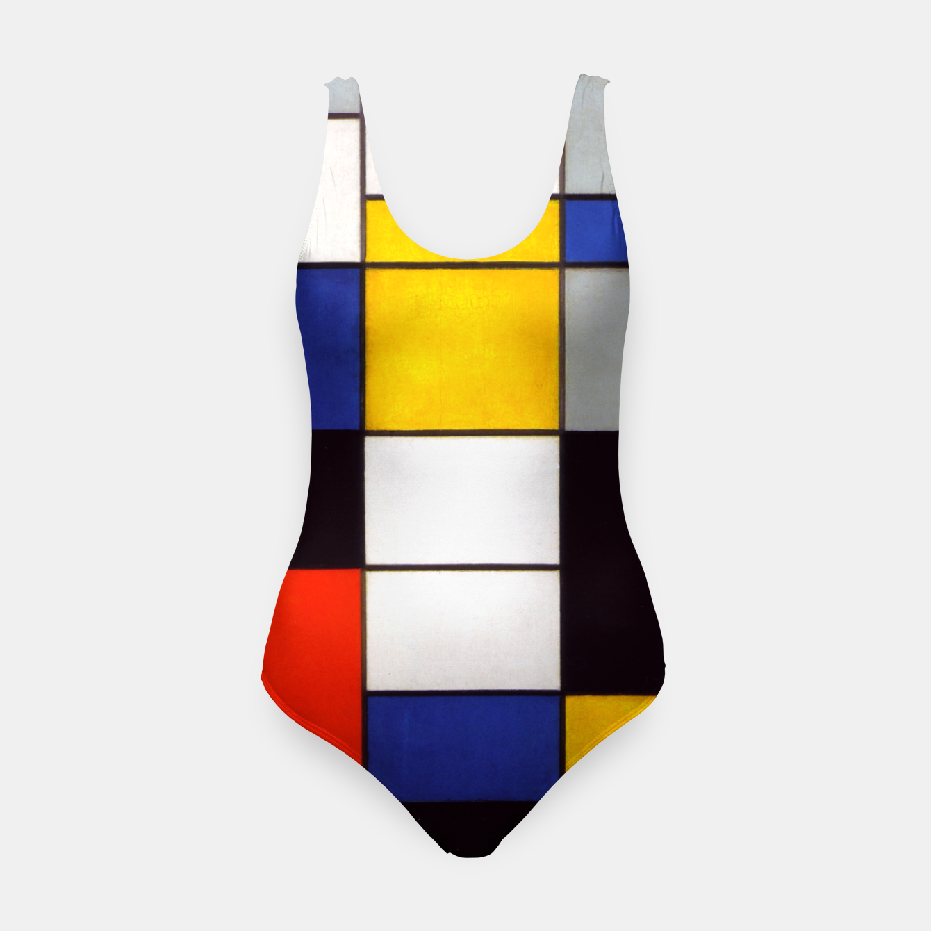 Image of Composition A by Piet Mondrian Swimsuit - Live Heroes