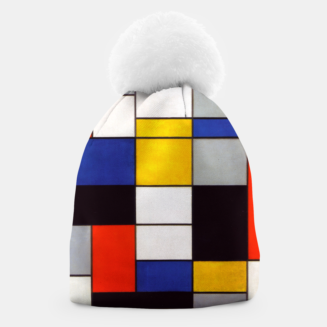 Image of Composition A by Piet Mondrian Beanie - Live Heroes