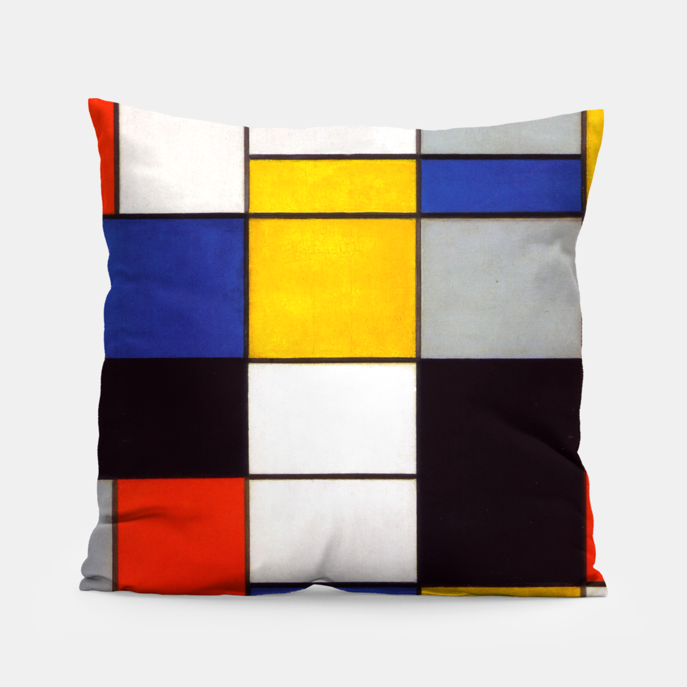 Image of Composition A by Piet Mondrian Pillow - Live Heroes