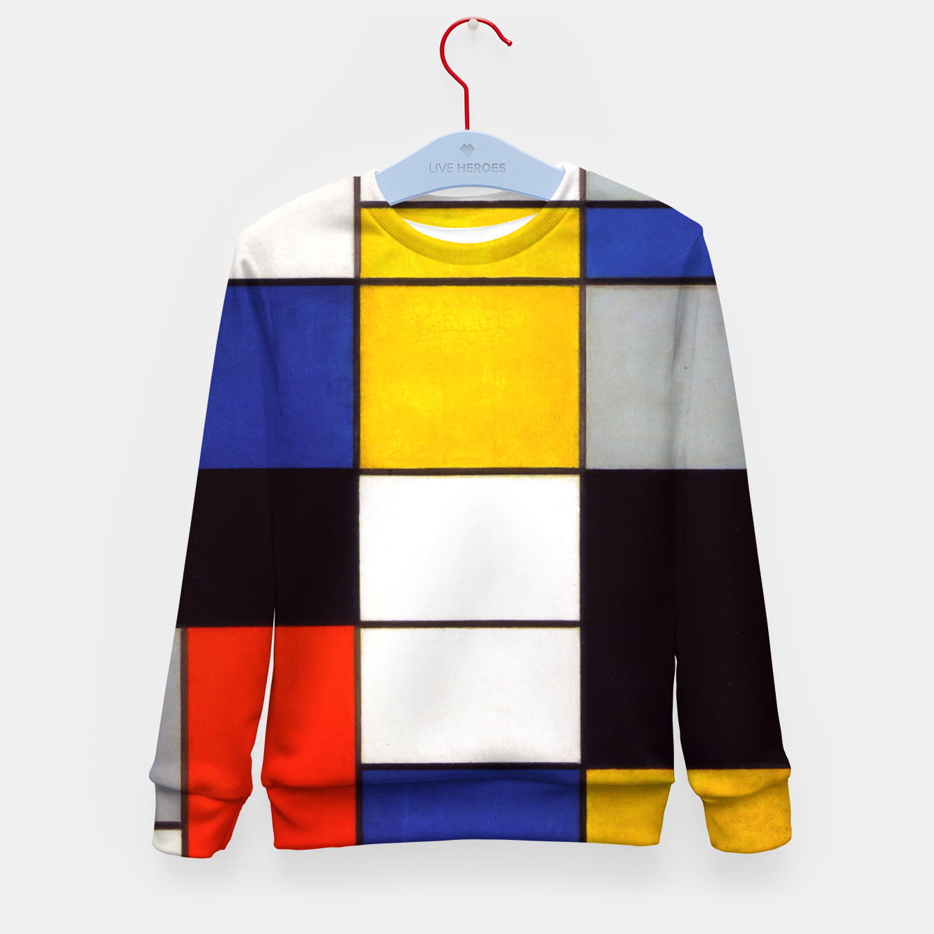 Image of Composition A by Piet Mondrian Kid's sweater - Live Heroes