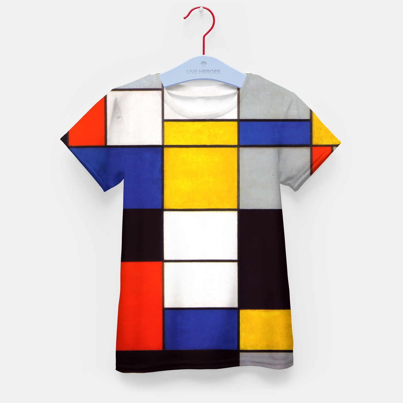 Image of Composition A by Piet Mondrian Kid's t-shirt - Live Heroes