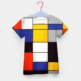 Thumbnail image of Composition A by Piet Mondrian Kid's t-shirt, Live Heroes