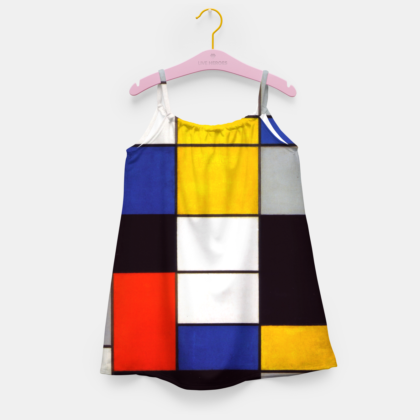 Image of Composition A by Piet Mondrian Girl's dress - Live Heroes
