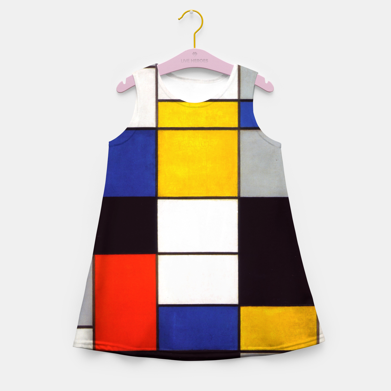 Image of Composition A by Piet Mondrian Girl's summer dress - Live Heroes