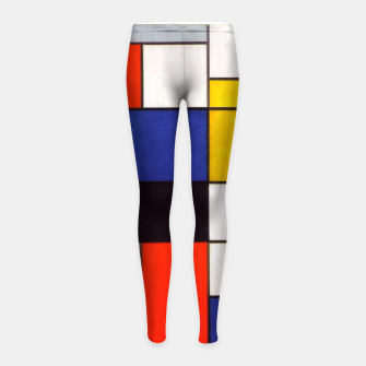 Thumbnail image of Composition A by Piet Mondrian Girl's leggings, Live Heroes