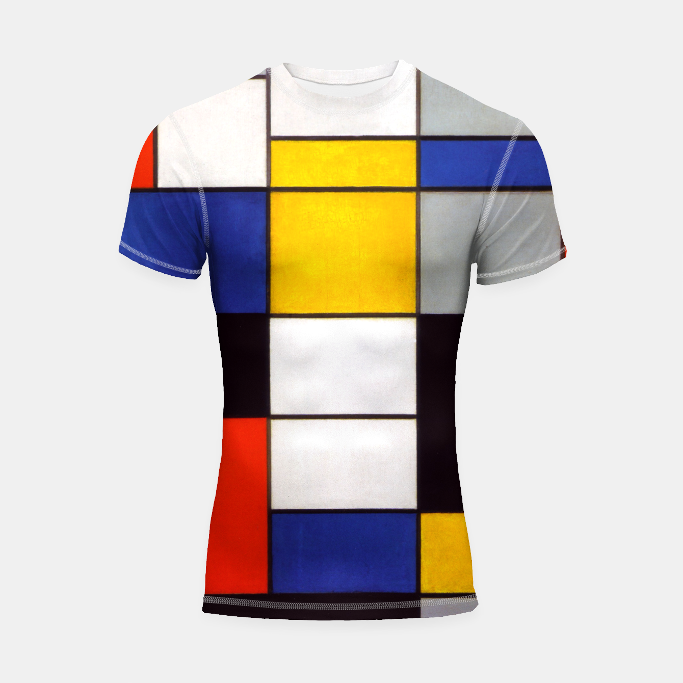 Image of Composition A by Piet Mondrian Shortsleeve rashguard - Live Heroes