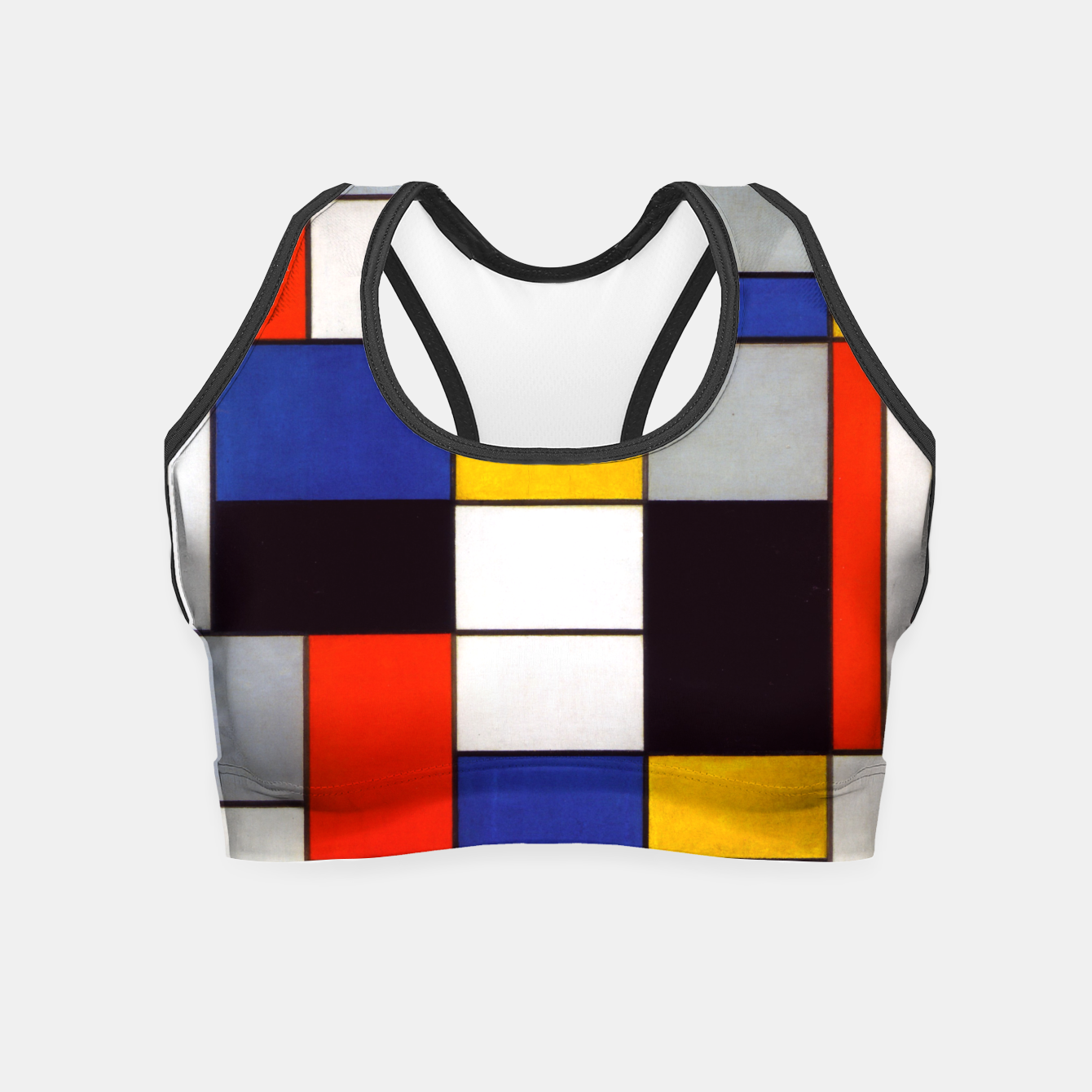 Image of Composition A by Piet Mondrian Crop Top - Live Heroes