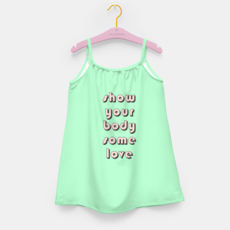 Thumbnail image of Show your body some love, typographic print Girl's dress, Live Heroes