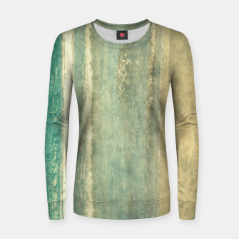 Thumbnail image of Abstract seascape vintage, Beige blue ocean sea Women sweater, Live Heroes