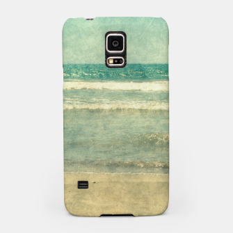 Thumbnail image of Abstract seascape vintage, Beige blue ocean sea Samsung Case, Live Heroes