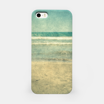 Thumbnail image of Abstract seascape vintage, Beige blue ocean sea iPhone Case, Live Heroes
