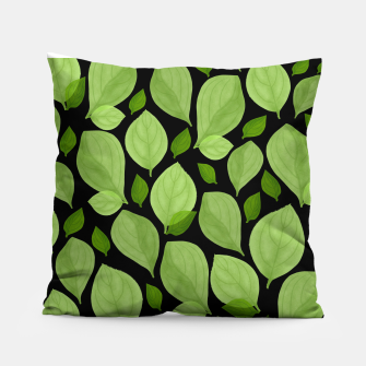 Thumbnail image of Basil Leaf Pattern Pillow, Live Heroes