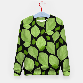 Thumbnail image of Basil Leaf Pattern Kid's sweater, Live Heroes