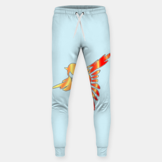 Thumbnail image of Gradient birds on blue Sweatpants, Live Heroes