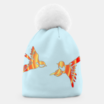 Thumbnail image of Gradient birds on blue Beanie, Live Heroes