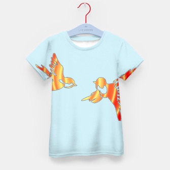 Thumbnail image of Gradient birds on blue Kid's t-shirt, Live Heroes