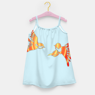Thumbnail image of Gradient birds on blue Girl's dress, Live Heroes