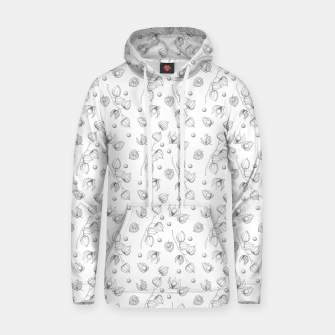 Thumbnail image of Physalis 1 black and white Hoodie, Live Heroes