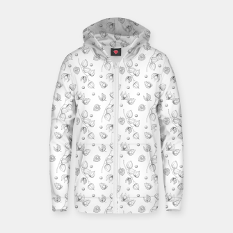 Thumbnail image of Physalis 1 black and white Zip up hoodie, Live Heroes