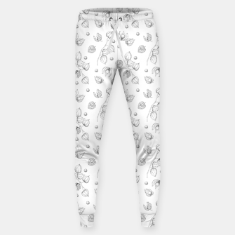 Thumbnail image of Physalis 1 black and white Sweatpants, Live Heroes