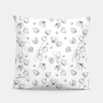 Thumbnail image of Physalis 1 black and white Pillow, Live Heroes
