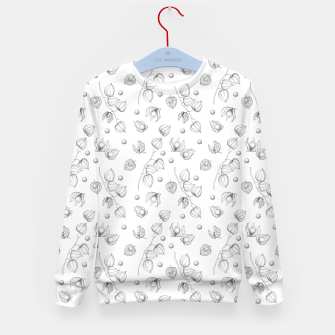 Thumbnail image of Physalis 1 black and white Kid's sweater, Live Heroes