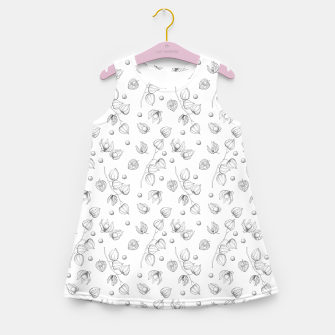 Thumbnail image of Physalis 1 black and white Girl's summer dress, Live Heroes