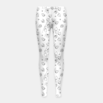 Thumbnail image of Physalis 1 black and white Girl's leggings, Live Heroes