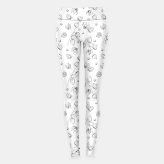 Thumbnail image of Physalis 1 black and white Leggings, Live Heroes