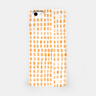 Thumbnail image of Orange watercolor dots iPhone Case, Live Heroes