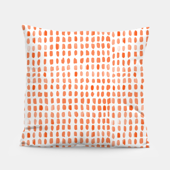 Thumbnail image of Red Watercolor Dots Pillow, Live Heroes
