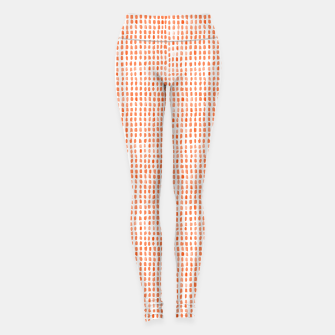 Thumbnail image of Red Watercolor Dots Leggings, Live Heroes