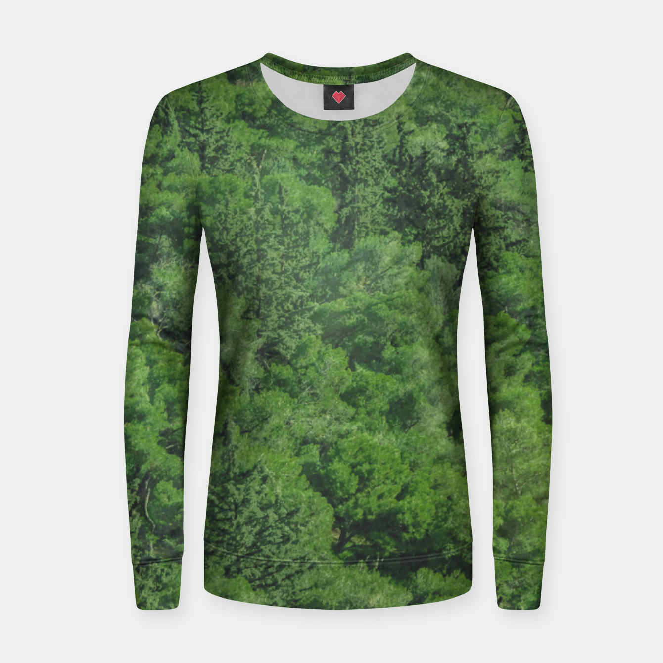 Image of Leafy Forest Landscape  Women sweater - Live Heroes