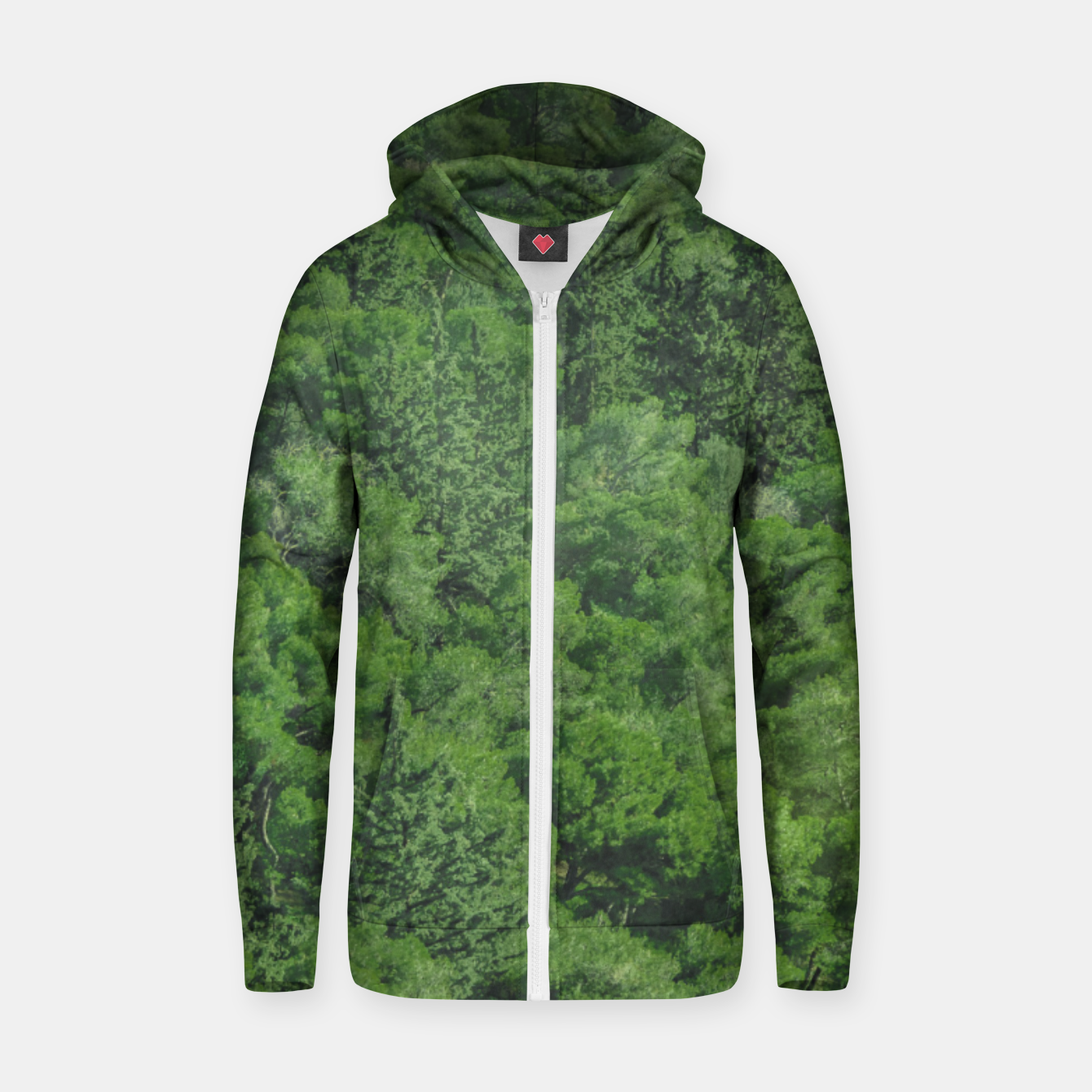 Image of Leafy Forest Landscape  Zip up hoodie - Live Heroes
