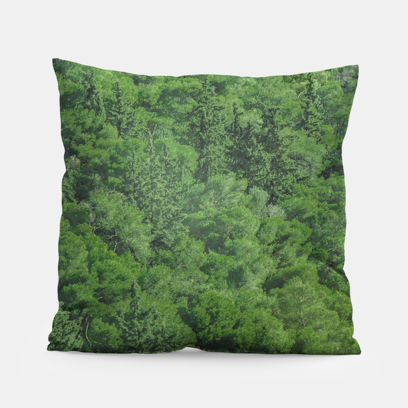Image of Leafy Forest Landscape  Pillow - Live Heroes