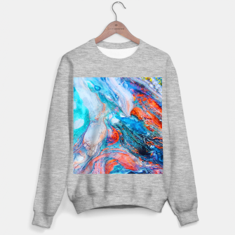 Marble Effect Color Pouring Acrylic Abstract Painting Sweater regular thumbnail image