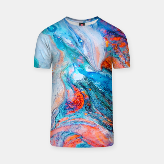 Marble Effect Color Pouring Acrylic Abstract Painting T-shirt thumbnail image