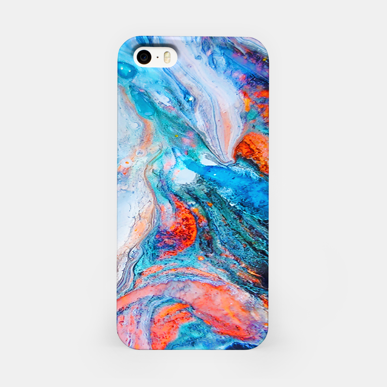 Image of Marble Effect Color Pouring Acrylic Abstract Painting iPhone Case - Live Heroes