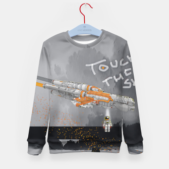 Thumbnail image of To the sky Kid's sweater, Live Heroes