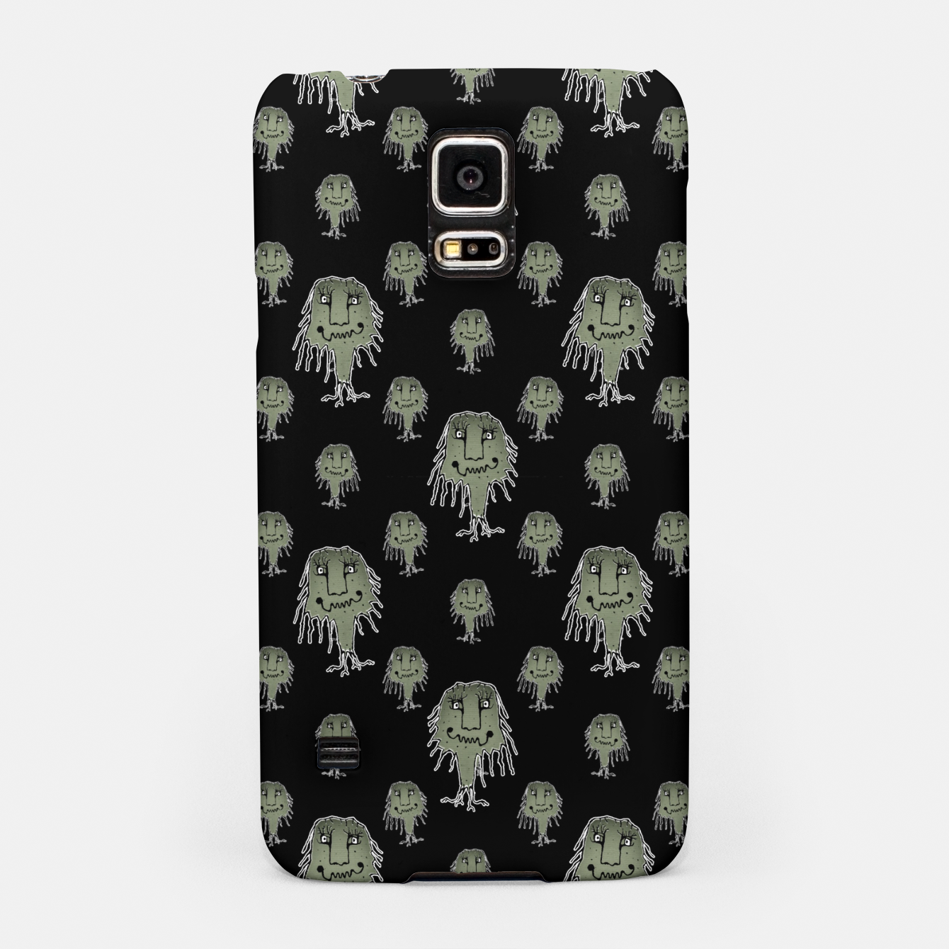 Image of Funny Monsters Motif Drawing Pattern. Samsung Case - Live Heroes