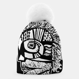 Thumbnail image of Cyber Punk Portrait Poster Illustration Beanie, Live Heroes