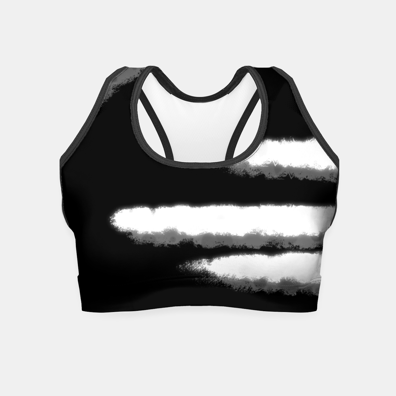 Image of white circle Crop Top - Live Heroes