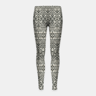 Thumbnail image of Fancy Abstract Ornate Pattern Girl's leggings, Live Heroes