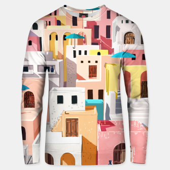 Thumbnail image of Pastel Cityscape Unisex sweater, Live Heroes