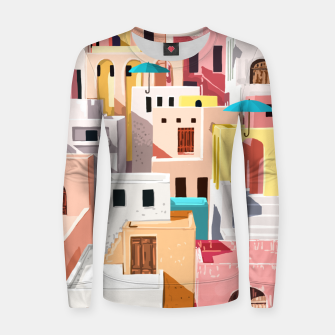Thumbnail image of Pastel Cityscape Women sweater, Live Heroes
