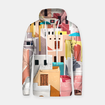 Thumbnail image of Pastel Cityscape Hoodie, Live Heroes
